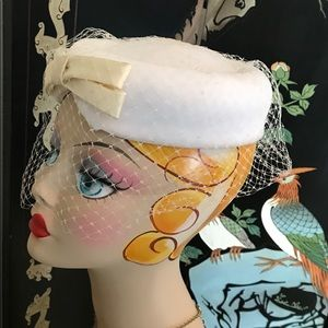 Vintage Pillbox Hat with Veil